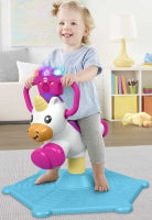 Load image into Gallery viewer, Fisher Price Bounce & Spin Unicorn