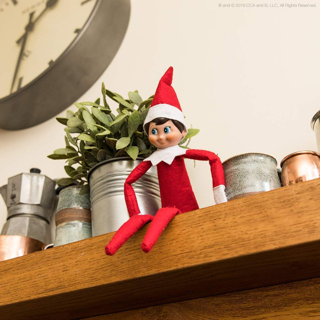 Elf on the Shelf: A Christmas Tradition - Light Skinned Blue Eyed Girl Scout Elf Box Set