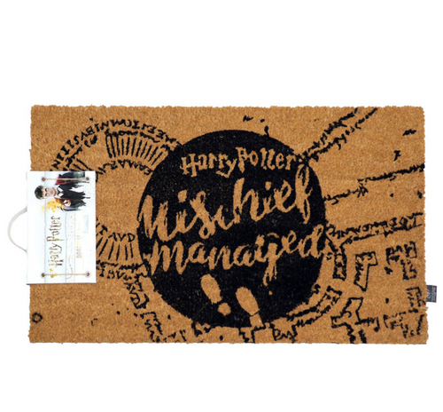 Harry Potter Mischief Managed doormat