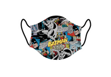 Load image into Gallery viewer, DC Comics Batman Comic reusable adult face mask