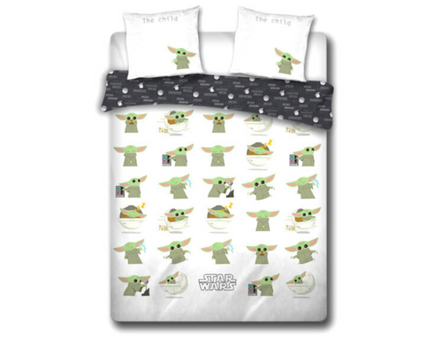 Star Wars The Mandalorian Baby Yoda cotton double duvet cover bed 135cm