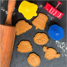 Load image into Gallery viewer, Harry Potter Pack of 6 Cookie Cutters