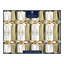 "Load image into Gallery viewer, Tom Smith 14"" Luxury Gold and White Crackers"