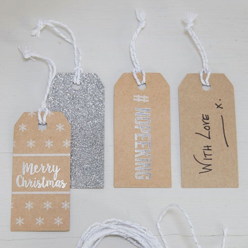 Ginger Ray Metallic Festive Tags