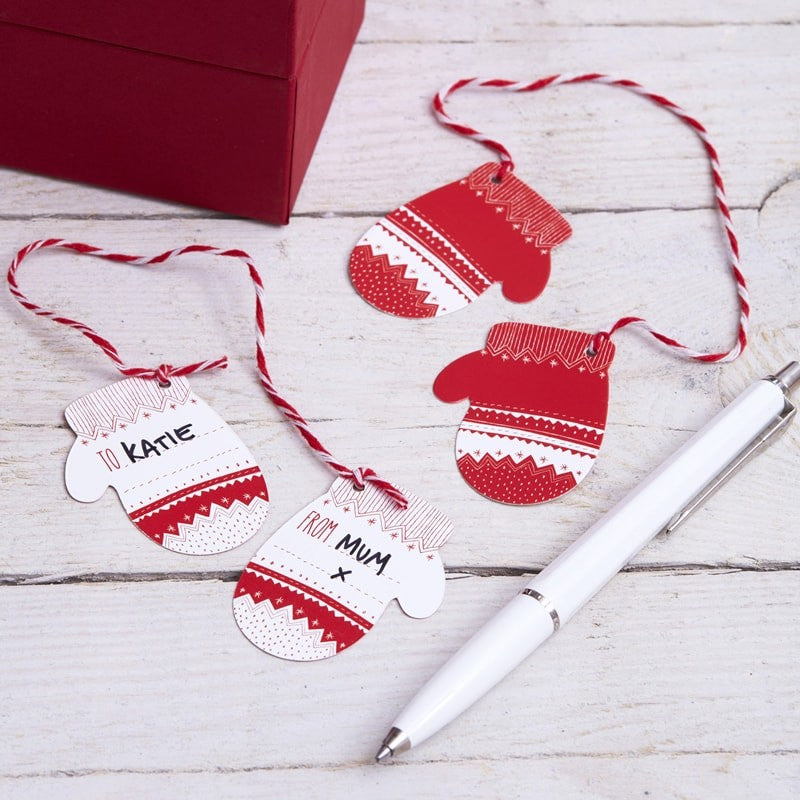 Ginger Ray Festive Mitten Tags