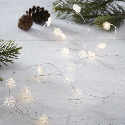 Ginger Ray Snowflake LED String Lights