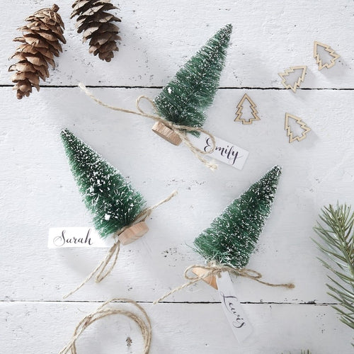 Ginger Ray Green Christmas Tree Place Card Holders