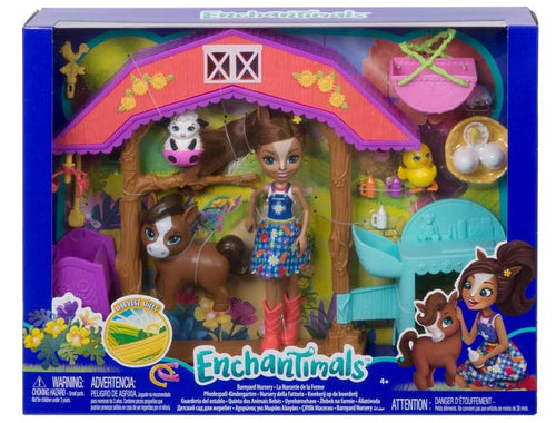 Enchantimals Barnyard Nusery Playset with Haydie Horse Doll