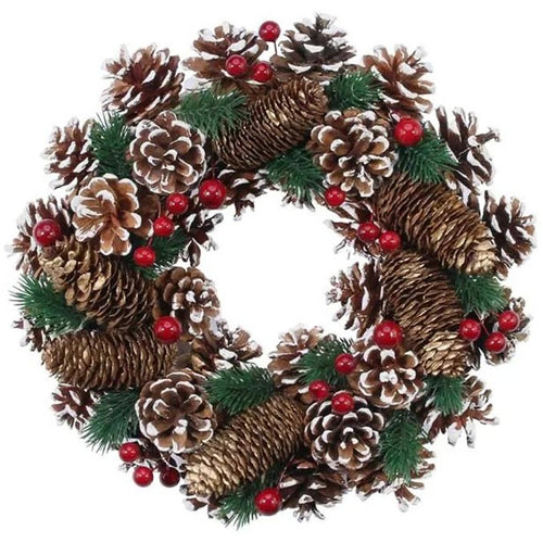 Natural Woodland Wreath - 30cm