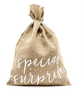 Special Surprise Hessian Present Sack