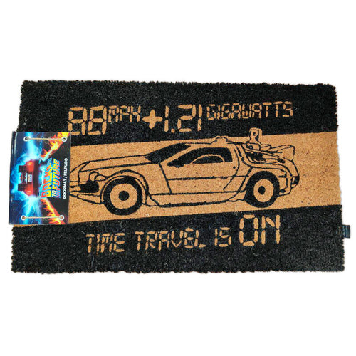 Back to the Future Time Machine doormat