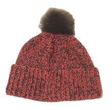 Load image into Gallery viewer, The Woolly Robyn Hand-Knitted Adult Bobble Hat Pink & Grey