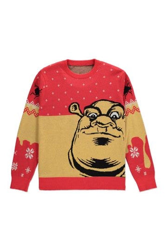 Shrek Knitted Christmas Jumper Adult Unisex