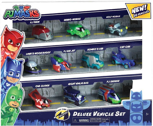 PJ Masks Night Time Micros Deluxe Vehicles Set
