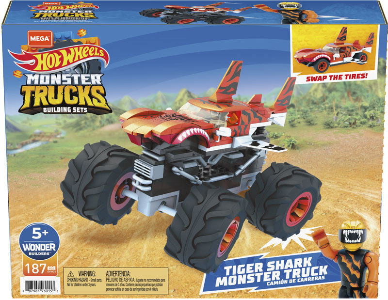 Mega Construx Hot Wheels Tiger Shark