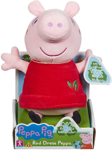 Peppa Pig Eco Red Dress Soft Toy