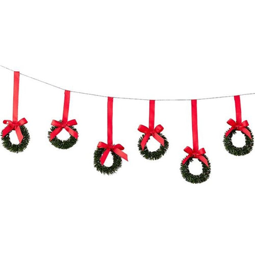 Ginger Ray Hanging Wreaths with Velvet Ribbon
