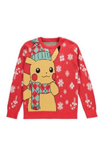 Load image into Gallery viewer, Pokémon Knitted Christmas Jumper Pikachu Adult Unisex