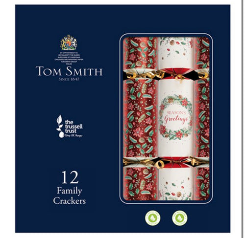 Tom Smith Red Premium Crackers 12 pack