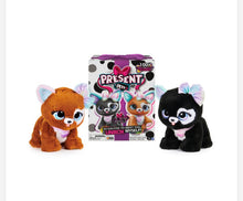 Load image into Gallery viewer, Present Pets Glitter Puppy Interactive Plush Pet Toy