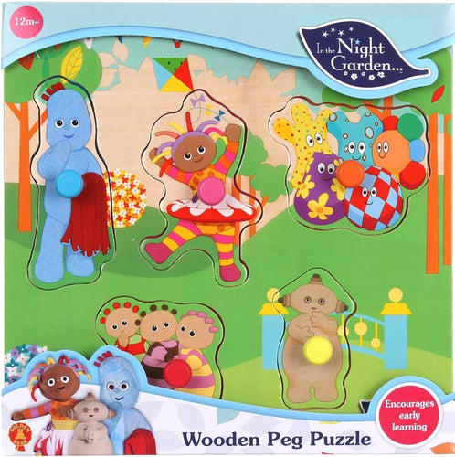 In The Night Garden Wooden Peg Puzzle In 6pc