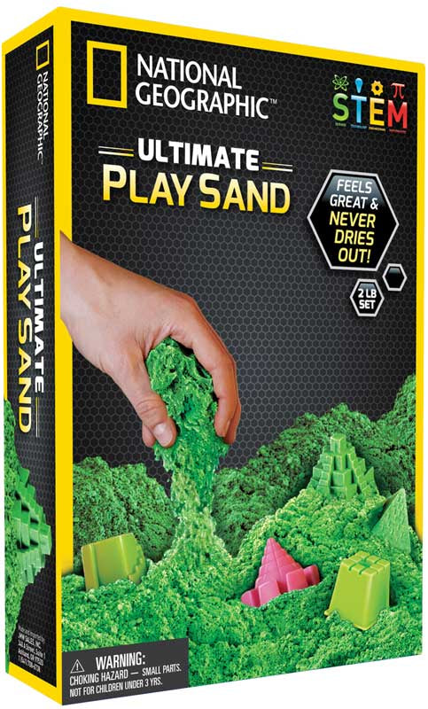 National Geographic Green Play Sand