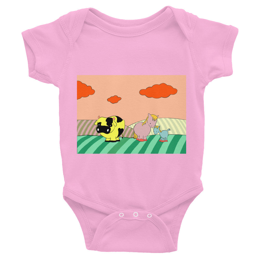 ANIMAL INFANT BODYSUIT