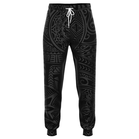 Polynesian Hawaiian Style Tribal Tattoo Gray Joggers
