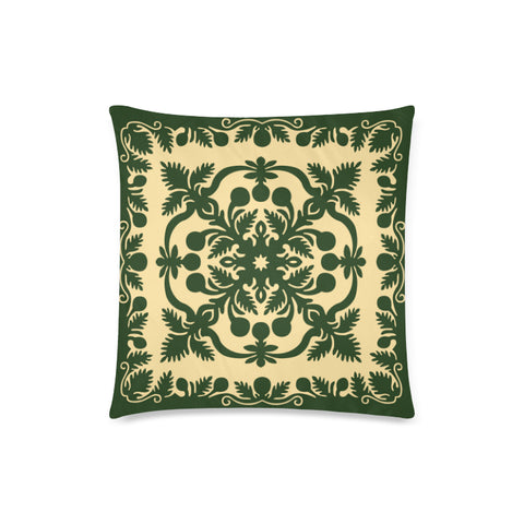 Hawaiian Pillow Covers Royal Pattern - Emerald Green - AH - J6 - Alohawaii