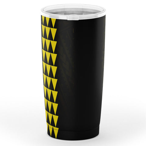 Kakau Polynesian Turtle Map Hawaii Tumbler - Yellow - AH - J6 - Alohawaii