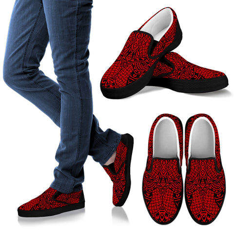 Image of Polynesian Slip Ons Red - AH - J1 - Alohawaii