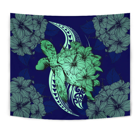 Image of Hawaii Polynesian Turtle Hibiscus Tapestry