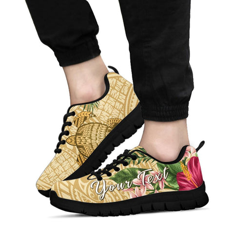 Image of Alohawaii Sneakers - Turtle Sneakers Strong Pattern Hibiscus Plumeria