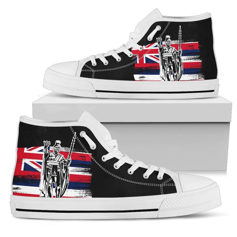 Hawaii KIng Flag High Top Shoe