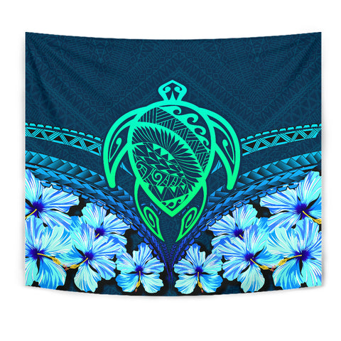 Hawaii Turtle Hibiscus Tapestry