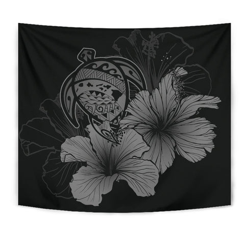 Hawaii Hibiscus Tapestry - Turtle Map