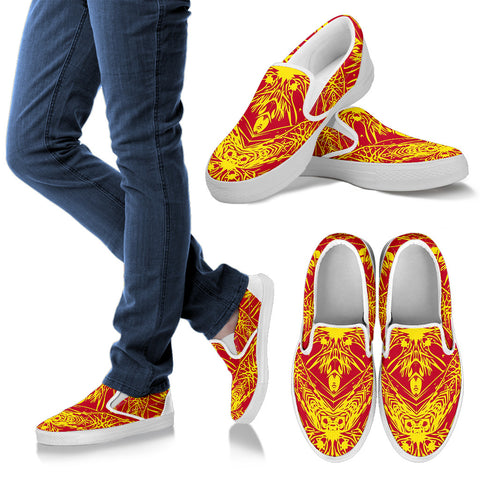 Polynesian Slip Ons Orange - AH - J1 - Alohawaii