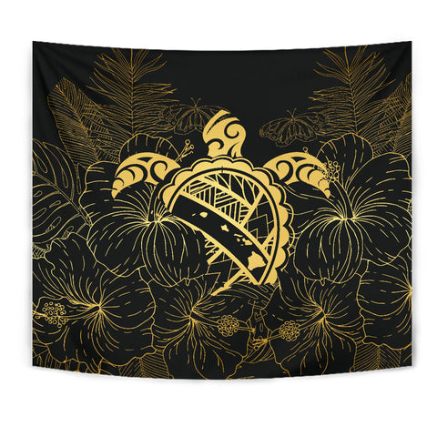 Hawaii Turtle Kanaka Golden Tapestry