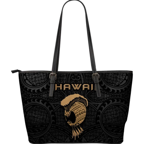 Hawaii Warrior Helmet Large Leather Tote - AH J4 - Alohawaii