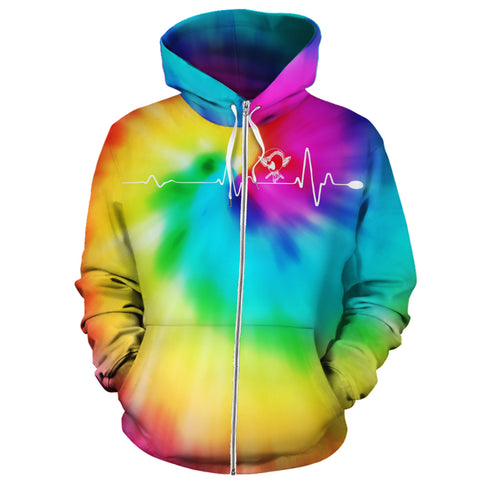 Hawaiian Warrior Hoodie (Zipper) Tie Dye - AH - J1