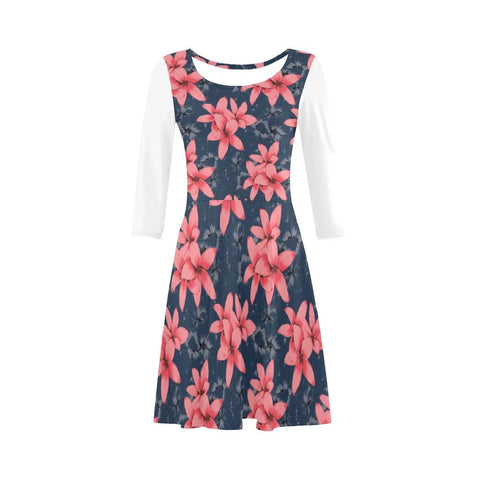 Image of Plumeria Pink Art Sleeve Sundress - AH