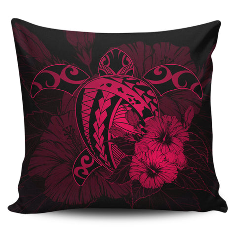 Hawaii Hibiscus Pillow Covers - Harold Turtle