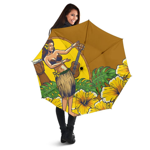 Hula Girl Dance Tradition Umbrella - AH - J1 - Alohawaii