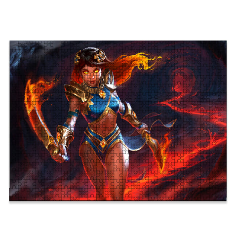 Image of Hawaii Polynesian Goddess Pele Jigsaw Puzzle - AH - J5 - Alohawaii