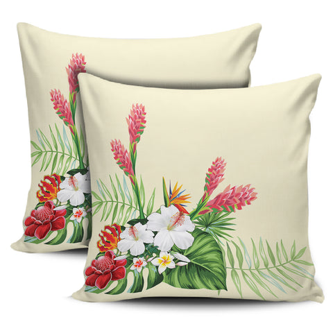 Image of Wonderful Hibiscus Flower Pillow Covers - AH - J1 - Alohawaii