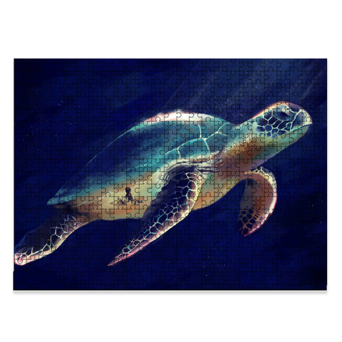 Memory Of A Day By The Sea And A Sea Turtle Jigsaw Puzzle - AH - J5 - Alohawaii
