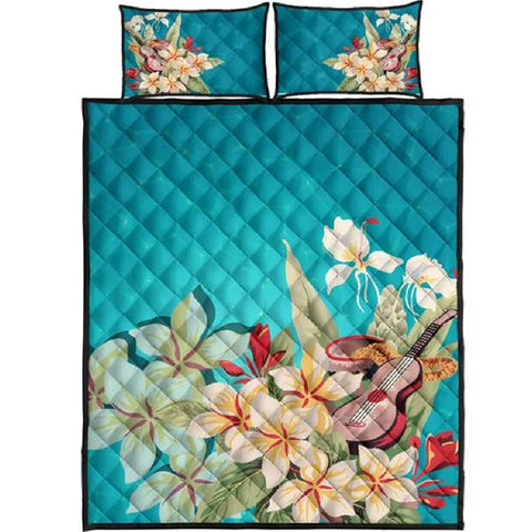 Plumeria Sound Quilt Bed Set - AH J4 - Alohawaii
