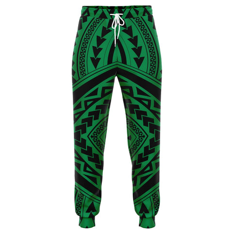 Image of Polynesian Tradition Green Joggers