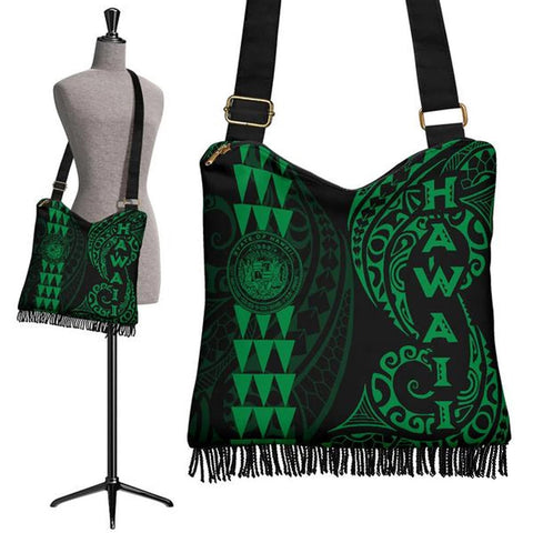 Hawaii Coat Of Arms Crossbody Boho Handbag Green - AH J4