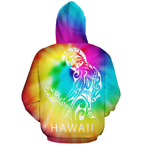 Image of Hawaiian Warrior Hoodie (Zipper) Tie Dye - AH - J1